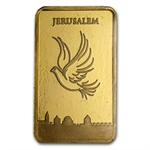5 gram Holy Land Mint Dove of Peace Gold Bar (In Assay)