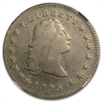 1795 Flowing Hair Dollar Extra Fine - Cleaned NGC - 3 Leaves