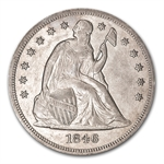 1846 Liberty Seated Dollar - Extra Fine Details - Cleaned