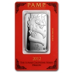 1 oz Pamp Suisse Silver Bar - Year of the Dragon (In Assay)