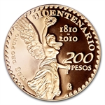 2010 Gold 200 Pesos Mexican Bicentenary PR-70 PCGS Registry Set