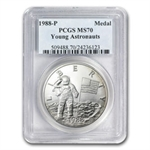 1988 Young Astronauts Silver Medal Commem MS-70 PCGS Registry Set