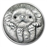 Mongolia 2012 Silver 500 Togrog Long-Eared Hedgehog Coin