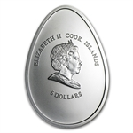 Cook Islands 2009 Silver $5 Little Thermo Chick Easter Coin