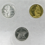 2010 Cook Island 3 Coin Smallest Coin Set-Platinum, Gold & Silver