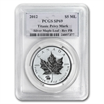 2012 1 oz Silver Canadian Maple Leaf Titanic Privy SP-69 PCGS