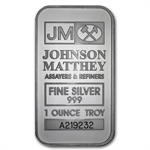 1 oz Johnson Matthey Silver Bar (New-JM LogoReverse) .999 Fine