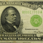 1934 (A-Boston) $1,000 Federal Reserve Note - Very Fine LGS