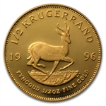 1996 1/2 oz Proof Gold South African Krugerrand