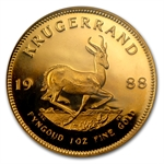 1988 1 oz Gold South African Krugerrand PCGS PR-67