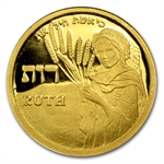 2009 Israel Ruth-Smallest Pure Gold Medal AGW 1/25 oz