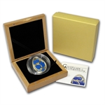 Cook Islands 2010 Proof Silver Imperial Egg in Cloisonné - Blue