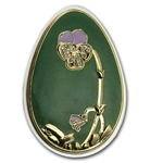 Cook Islands 2010 Proof Silver Imperial Egg in Cloisonné - Green