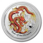 2012 1/2 oz Australian Silver Year of the Dragon Colorized Coin