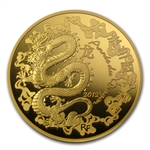 2012 5 oz Proof Gold Year of the Dragon (500 Euro) - Lunar Series