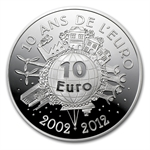 2012 10 Euro Silver Proof The Sower -10th Anniversary of the Euro