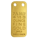 Orchid - 1/5 oz Proof Gold Pamp Ingot Pendant