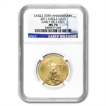 2011 1/2 oz Gold American Eagle MS-70 NGC (Early Releases)