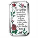1 oz Mother's Day Enameled Silver Bar (w/Box & Capsule)