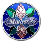 1 oz Happy Mother's Day Enameled Silver Round (w/Box & Cap)