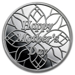 1 oz Happy Mother's Day Silver Round (w/Box & Capsule)