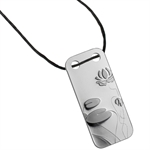Water Lily - 1/5 oz Proof Silver Pamp Ingot Pendant