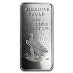 10 oz American Eagle Silver Bar .999 Fine