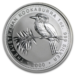 2000 1 oz Proof Silver Australian Kookaburra - Spotty