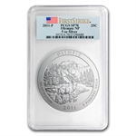 2011-P 5 oz Silver ATB Olympic SP-70 PCGS First Strike