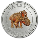 2012 Canadian $0.25 Glow in the Dark Dinosaur - Pachyrhinosaurus