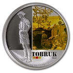 2011 1 oz Proof Silver Battle of Tobruk Coin - Australian History