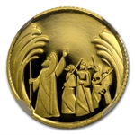 Israel Biblical Art Series Smallest Gold Coin NGC PF70 4 Coin Set