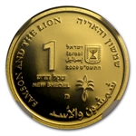 2009 Israel Samson and Lion Smallest Gold Coin PF 70 NGC