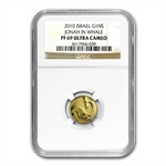 2010 Israel Jonah in the Whale Smallest Gold Coin PF-69 NGC