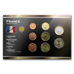 France Euro Coin Set - 8 Coins