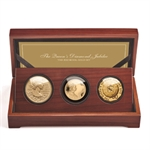 2012 3-Coin Royal Gold Set - Queen's Diamond Jubilee (W/Box)