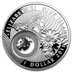 Niue 2011 Proof Silver $1 Lucky Coins Series - Ladybird