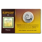 Niue 2011 Proof Silver $1 Lucky Coins Series - Elephant