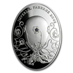 Niue 2011 Proof Silver $2 Imperial Faberge Eggs - Pansy