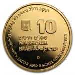 2003 Israel Jacob and Rachel 1/2 oz Proof Gold Coin w/ box & coa