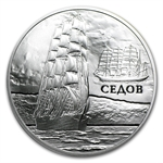 Belarus 2008 Silver Sailing Ships with Hologram -Sedov
