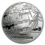 Belarus 2010 Silver Sailing Ships with Hologram -USS Constitution