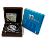 2012 5 oz Silver Chinese Panda Singapore Coin Fair with Box & CoA