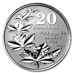 2011 1/4 oz Silver Canadian $20 Maple Leaf Commemorative (W/COA)