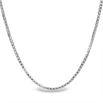 Box Chain Sterling Silver Necklace - 24 in.