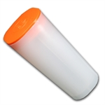Empty 25 Coin 1 oz Silver Maple Leaf RCM Coin Tube (Orange Top)