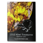 2012 1 oz Silver New Zealand $1 Kiwi Treasures - Kowhai Proof