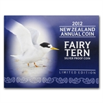 2012 1 oz Silver New Zealand $5 Annual Coin - Fairy Tern Proof