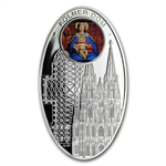 Niue 2011 Proof Silver $1 Gothic Cathedrals - Cologne Dome