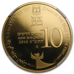 2010 Israel Jonah in the Whale 1/2 oz Gold Coin PF-69 UCAM NGC